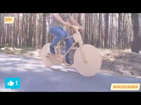 How to Make a Wooden Bike in 1 Day