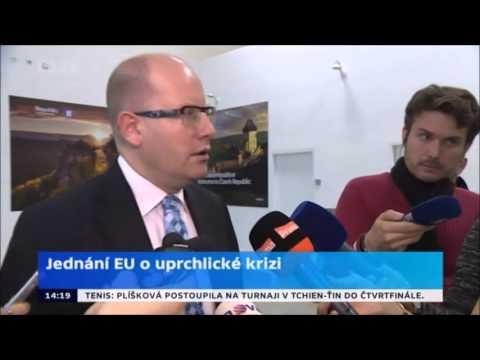 B. Sobotka po jednání EU o uprchlících