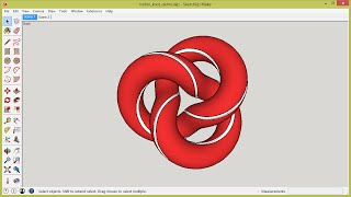 "How to Sketchup a Trefoil ""Candy"" Knot (Draw Ring demo)"