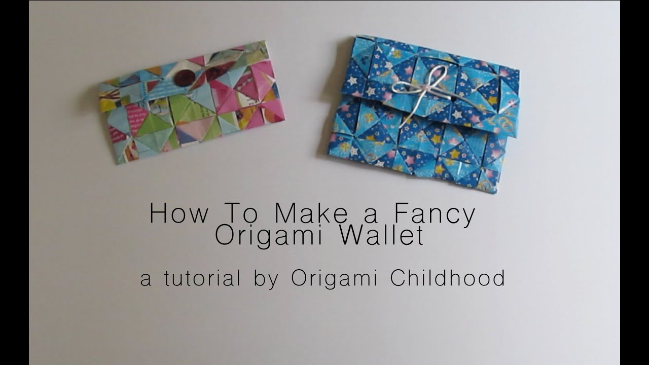 How to Make a Fancy Origami Wallet - YouTube - photo#1