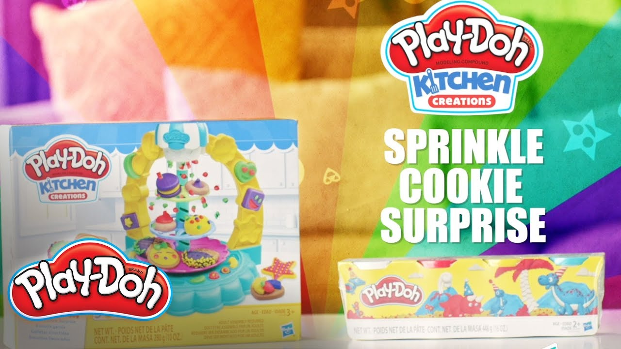 Play-Doh Official |  Kitchen Creations Sprinkle Cookie Surprise Play Food Set Official Spot