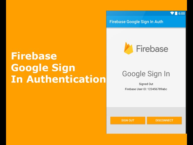 Google Sign In Firebase Authentication(Android)