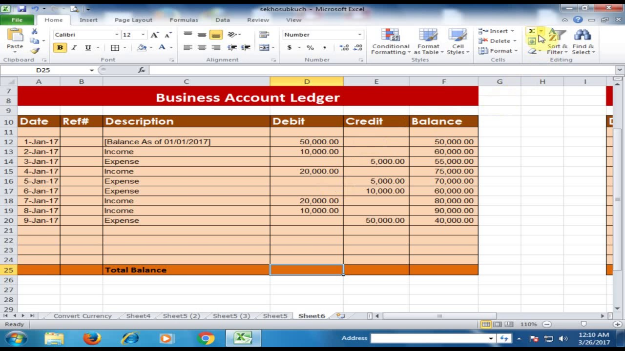 party ledger   two methods to calculate debit credit