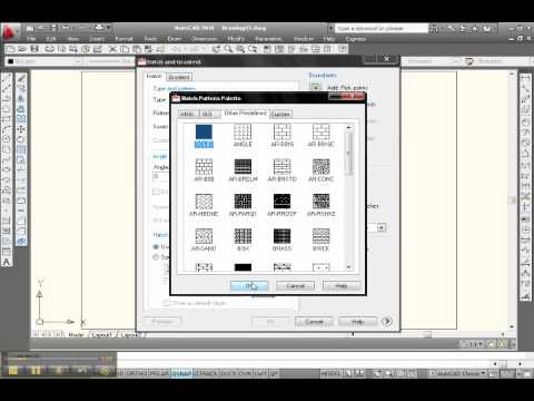 Fill With Color In AutoCAD 2010