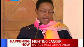 Government Launches cervical cancer vaccine that targets over 800,000 girls above 10 years .