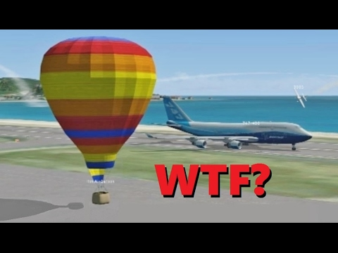 IDIOT PILOTS in Flight Simulator X! (Multiplayer Chaos at St. Maarten)