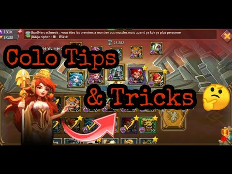 Lords Mobile - Colosseum Tips & Tricks | How To Beat P2P Hero's With Free Hero's In Lords Mobile |