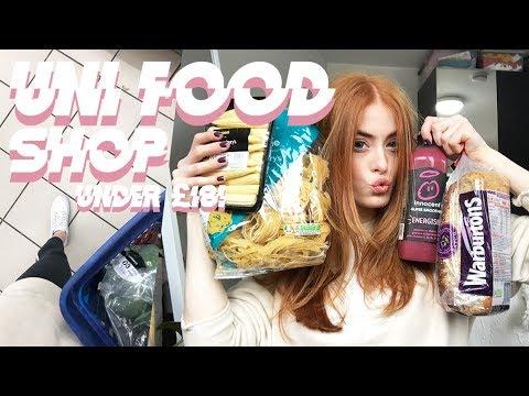 WEEKLY UNI FOOD SHOP UNDER £18! | MsRosieBea