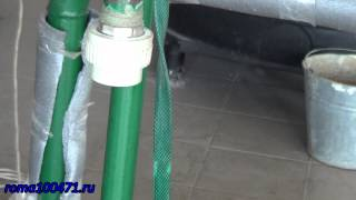 Переход с железной трубы на полипропилен, замена участка трубы(, 2014-11-30T07:15:16.000Z)