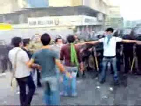 28 June Tehran: Iranian Students Face off With Police -NEW