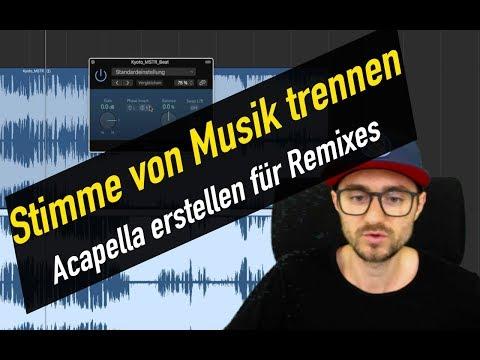 Stimme von Musik trennen / Beat entfernen für Remix   abmischenlernen.de