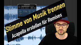 Stimme von Musik trennen / Beat entfernen für Remix | abmischenlernen.de