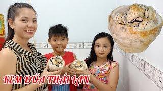 Làm kem dừa Thái Lan giải khát mùa nóng|Tôi là người Bến Tre