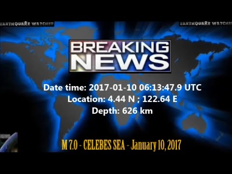 M 7.0 EARTHQUAKE - CELEBES SEA | January 10, 2017