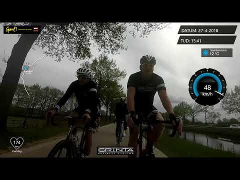 Grinta Business Cycling (2018 april 27e) finale Dwingeloo - laatste 10 kilometer