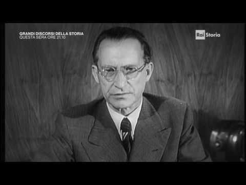 Alcide De Gasperi Dopo Le Sanzioni Di Guerra All'Italia (1947)