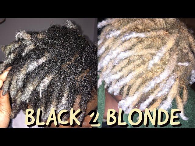 Bleaching My Locs| Black to Blonde
