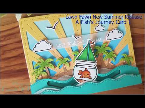 Lawn Fawn New Summer Release A Fish's Journey Card 1