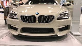 2018 BMW M6 Gran Coupe Exterior and interior Walk-around at Auto Show