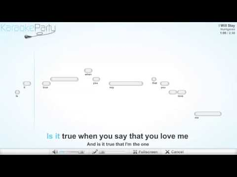 Hurriganes - I Will Stay - karaoke