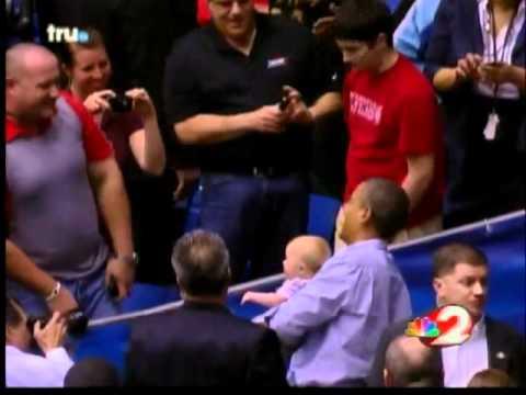 Obama baby encounter at NCAA