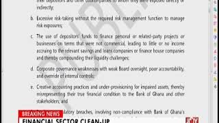 Financial Sector Clean-Up - The Pulse on JoyNews (16-8-18)