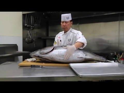 Bluefin Tuna Cutting - Inspection & First Cut [Part 1 of 6] © Prime Time Seafood