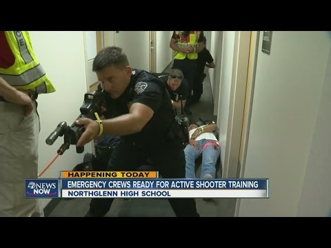 Active shooter training taking place at Northglenn High School Sunday