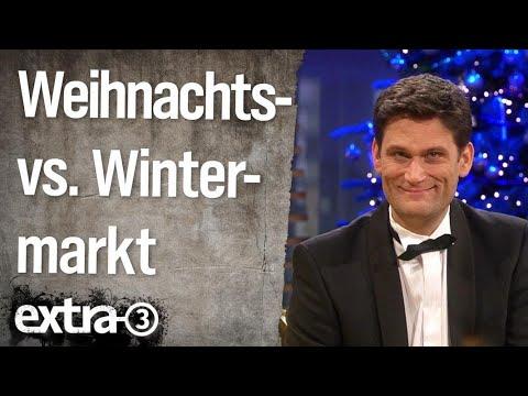 Weihnachtsmarkt vs. Wintermarkt | extra 3 | NDR