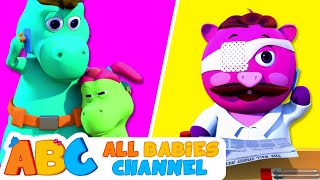 Five Little Dinosaurs | 3D Nursery Rhymes by All Babies Channel | Funny Kids Songs