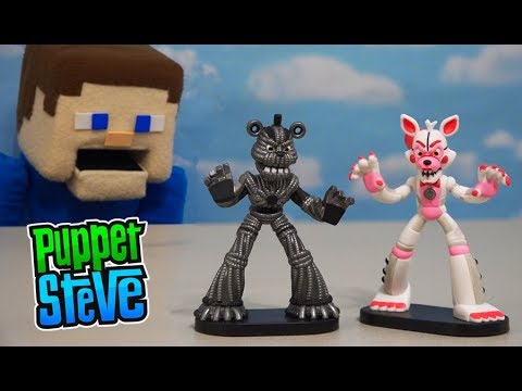 Five Nights at Freddy's HEROWORLD 2 Pack Series 6 Fnaf - Yennedo, FunTime Foxy FNAF Toys Unboxing thumbnail