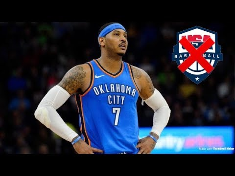 Carmelo Anthony Has Not Been Selected To Play For USA Basketball Men's National Team