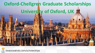 UK - University of Oxford Chellgren Graduate Scholarship #20150123