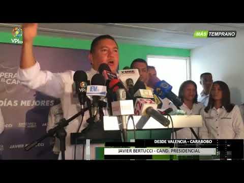 Venezuela - Javier Bertucci comienza su campaña electoral de cara al 20M  - VPItv