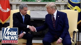 Trump, Finnish President Niinistö hold a joint press conference