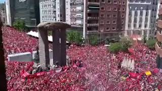 Liverpool Fc fans in Madrid you'll never walk alone