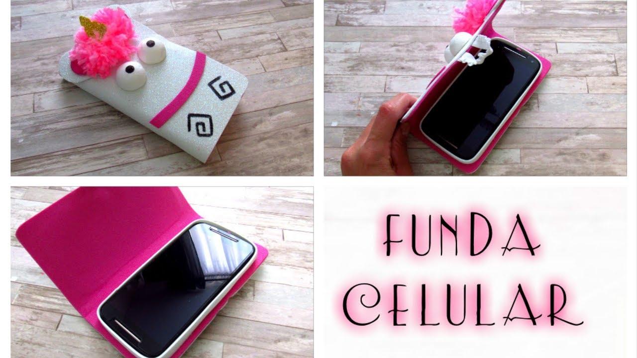29d6a01782e Cómo hacer una funda para celular de unicornio con fommy o goma eva fácil y  rápido