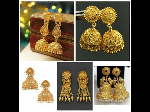 Latest Gold Jhumkas Designs Earring