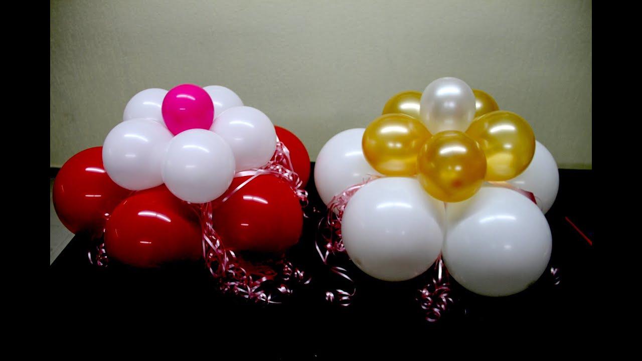 Flores decorativas hechas con globos youtube for Plantas decorativas