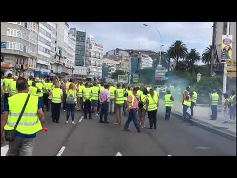 Trabajadores del carbón de As Pontes colapsan A Coruña y logran una mesa de trabajo