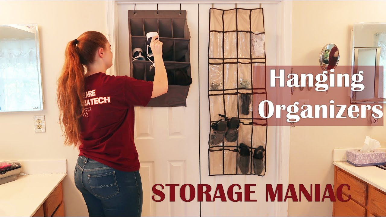 Storage Maniac Hanging Shoe Organizers 20 Pocket 12 Pocket