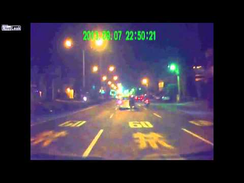 SCOOTER DRIVER CRASHES INTO A CAR