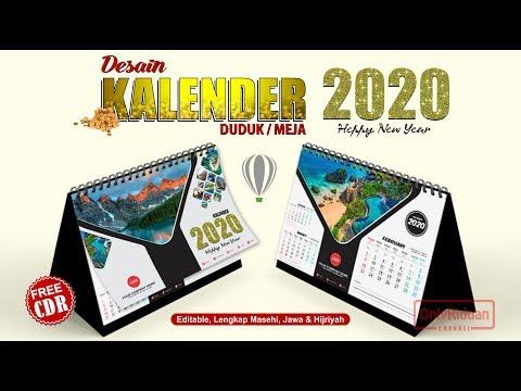 Desain Kalender Duduk 2020 Dengan CorelDRAW - Calendar Template