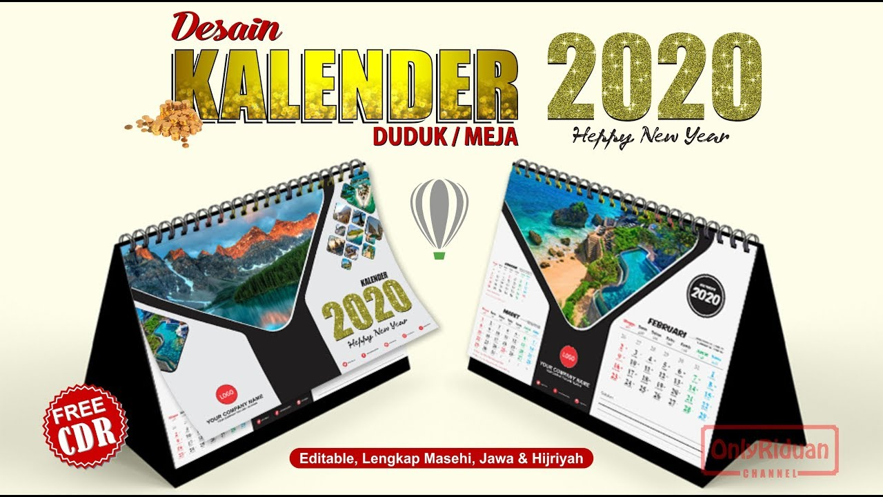 Template Kalender Meja 2021 Pdf