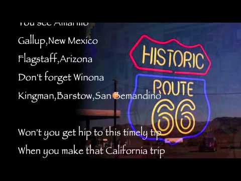 Route 66 : Nat King Cole : With Lyrics