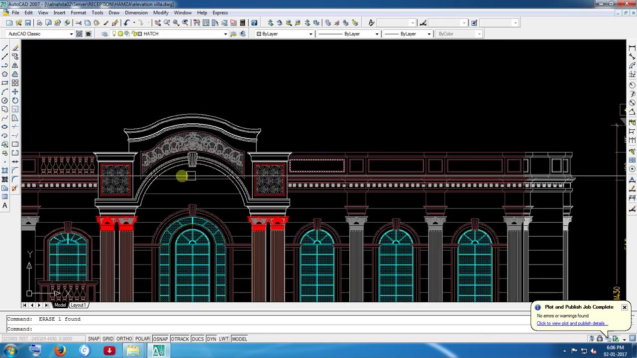Car Front Elevation Autocad File : Villa elevation d very aesthetic youtube