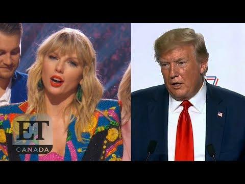 Trump Responds To Taylor Swift's VMA Speech