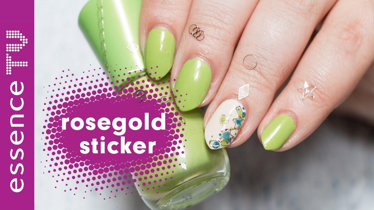 nagelsticker auftragen nageldesign selber machen f r anf nger sticker nail art tutorial. Black Bedroom Furniture Sets. Home Design Ideas