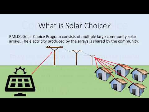 Support Clean Energy and Save Money with RMLD's Solar Choice Program