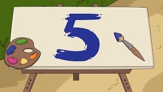 Цифра 5 (учим цифры) - ПРЕДКИ развивающие мультфильмы для детей и малышей / счет до 10